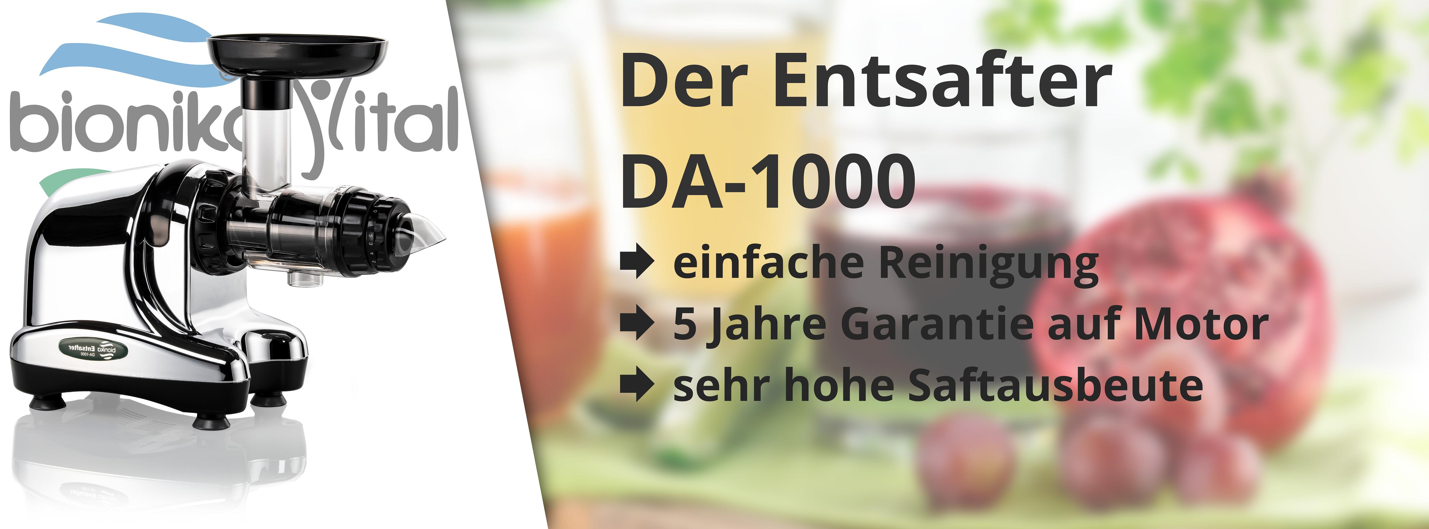 Bionika Entsafter DA-1000 in 5 Farben